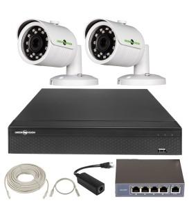 КОМПЛЕКТ ВИДЕОНАБЛЮДЕНИЯ GREEN VISION GV-IP-K-L21/2 1080P