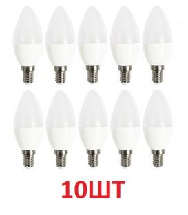 LED лампа Feron LB-197 7W E14 набор 10шт. Свеча