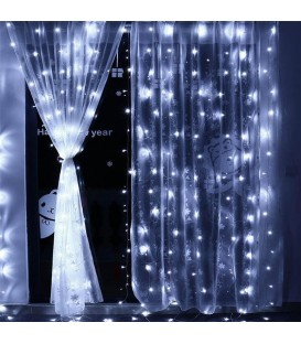 Гирлянда штора 120LED 1,8м*1м белый цвет свечения
