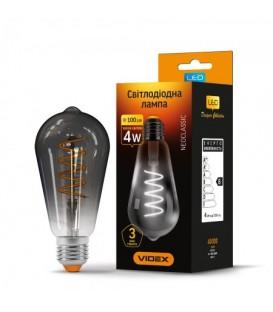 LED лампа VIDEX Filament ST64FG 4W E27 2100K 220V