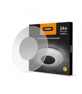 LED светильник Акриловый круглый VIDEX 24W 4100K 220V серебро