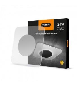 LED светильник Акриловый квадратный VIDEX 24W 4100K 220V серебро