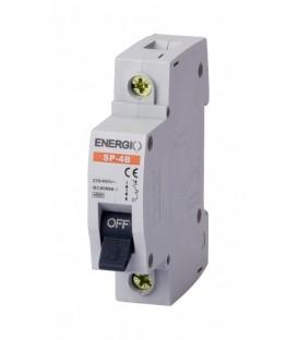 Модульный автоматический выключатель ENERGIO SP-4B 1P 4.5кА