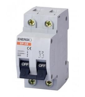 Модульный автоматический выключатель ENERGIO SP-4B 2P С 4.5кА