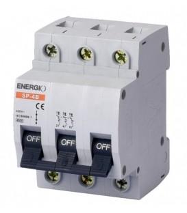 Модульный автоматический выключатель ENERGIO SP-4B 3P С 4.5кА