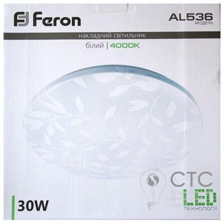 Светодиодный светильник Feron AL536 круг накладной 4000K