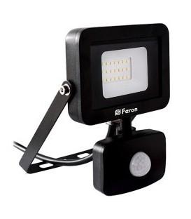 Прожектор светодиодный Feron LL-802 20W 6400K с датчиком движения