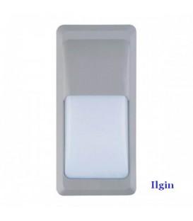 Светильник садово-парковый настенный прямоугольный SMD Led 12W серый