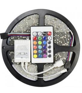 Набор из: LED лента RGB 14.4W/m 5m + контроллер RGB + блок питания 100W