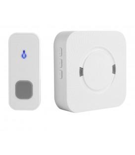 Беспроводной дверной звонок с базой в розетку белый