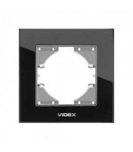 VIDEX BINERA Рамка черное стекло