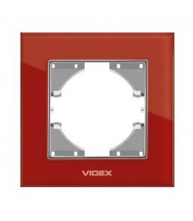 VIDEX BINERA Рамка красное стекло