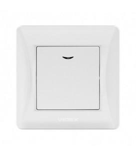 VIDEX BINERA Выключатель белый 1кл с подсветкой