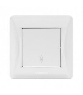 VIDEX BINERA Выключатель белый 1кл проходной