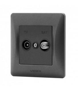 VIDEX BINERA Розетка черный графит TV+SAT