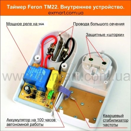 Розетка-таймер электронная Feron TM 22 (для бойлера)