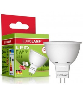 LED лампа Eurolamp MR16 5W G5.3 3000K 12V