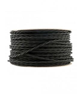Ретро кабель витой в текстильной оплётке черный 2*0,75