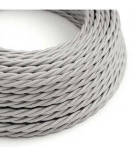 Ретро кабель витой в текстильной оплётке серебро 2*0,75мм