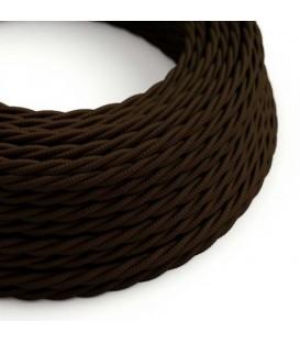 Ретро кабель витой в текстильной оплётке коричневый 2*0,75мм