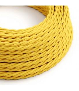 Ретро кабель витой в текстильной оплётке желтый 2*0,75мм