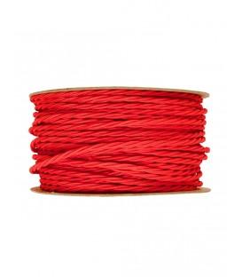 Ретро кабель витой в текстильной оплётке красный 2*0,75мм