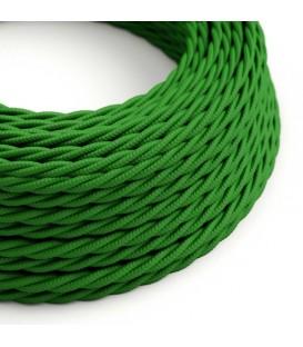 Ретро кабель витой в текстильной оплётке зеленый 2*0,75мм