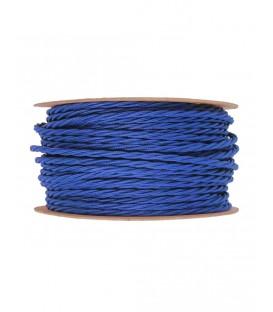 Ретро кабель витой в текстильной оплётке синий 2*0,75мм