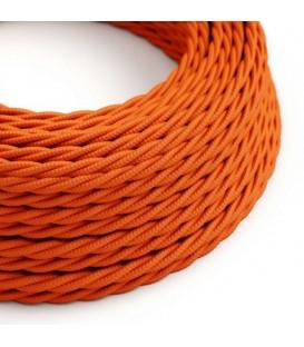 Ретро кабель витой в текстильной оплётке оранжевый 2*0,75мм