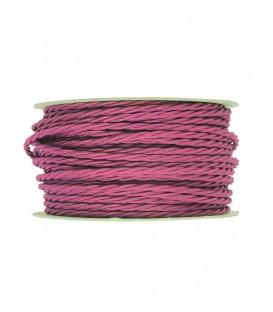 Ретро кабель витой в текстильной оплётке розовый 2*0,75мм