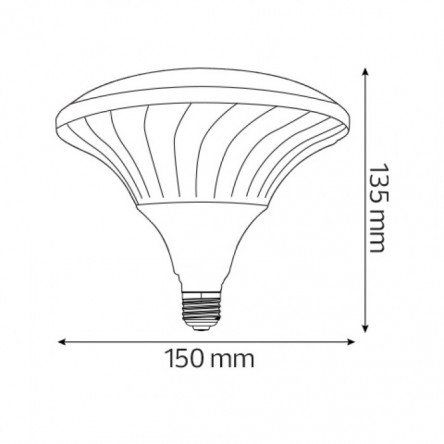 Светодиодная лампа HOROZ UFO PRO E27 4200K