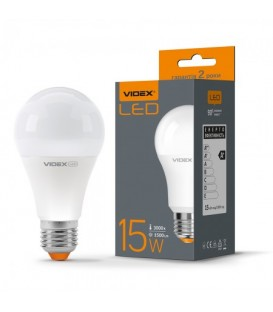 Более LED лампа VIDEX A60e 15W E27 3000K 220V