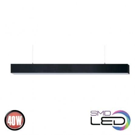 Линейный светильник подвесной Horoz INNOVO 40W 4000K черный