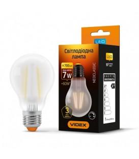 LED лампа VIDEX Filament A60FMD 7W E27 4100K 220V диммируемая