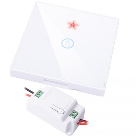 Беспроводной настенный сенсорный выключатель Inted RB3 черный/белый