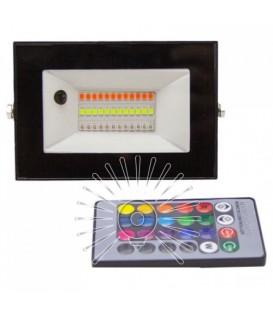 Светодиодный прожектор RGB 30W Lemanso LMP76-30 (цветной) + пульт