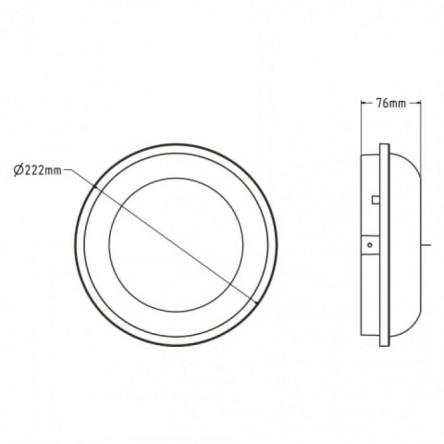 Светодиодный cветильник влагозащищенный ARTOS-20 20W белый