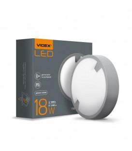 LED светильник IP65 круглый VIDEX 18W 5000K сенсорный