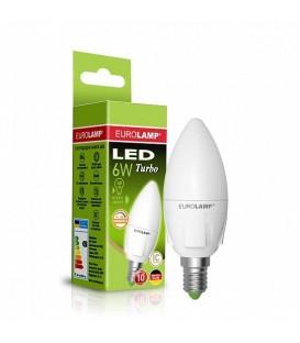 "Светодиодная диммируемая EUROLAMP LED Лампа TURBO NEW ""Свеча"" dimmable 6W E14"