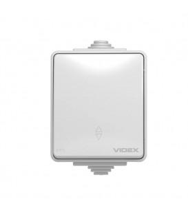 VIDEX BINERA IP65 Выключатель внешний одноклавишный серый