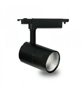 Более Трековый светильник Feron AL103 COB 30W 6500K черный/белый