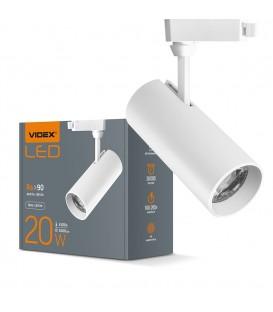 LED светильник трековый VIDEX 20W 4100K белый
