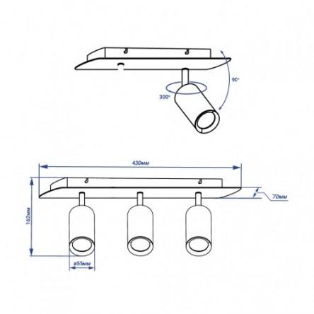 Накладной поворотный светильник Feron ML311-3