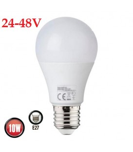 Более LED лампа Horoz Metro-2 10W E27 4200K 24-48V