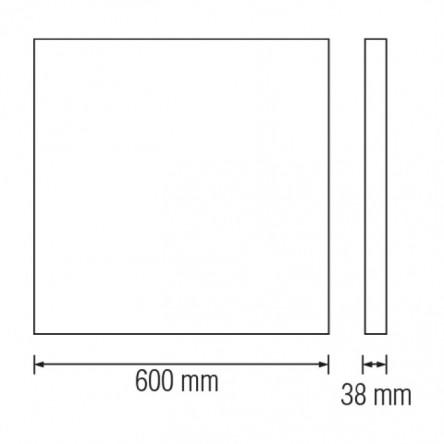 Светодиодный светильник Horoz PULSAR-48 48W накладной