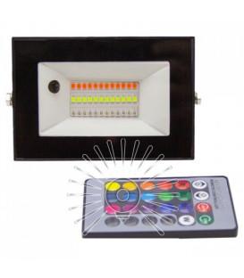 Светодиодный прожектор RGB 10W Lemanso LMP76-10 (цветной) + пульт