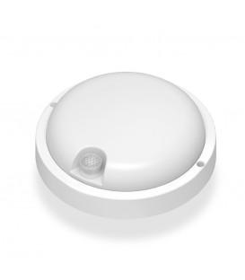 LED светильник с датчиком ИК IP54 круглый VIDEX 12W 5000K сенсорный белый