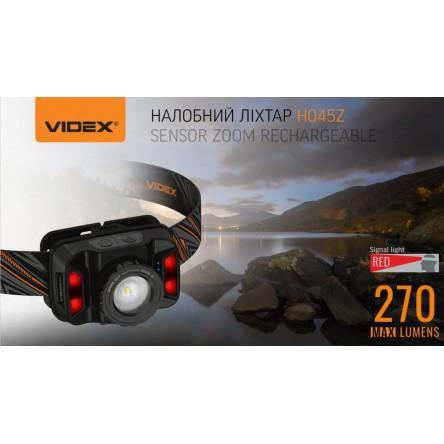 Налобный светодиодный фонарик H045Z VIDEX 270Lm 5000K