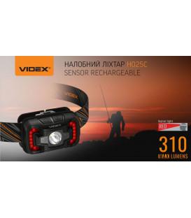 Более Налобный светодиодный фонарик H025C VIDEX 310Lm 5000K