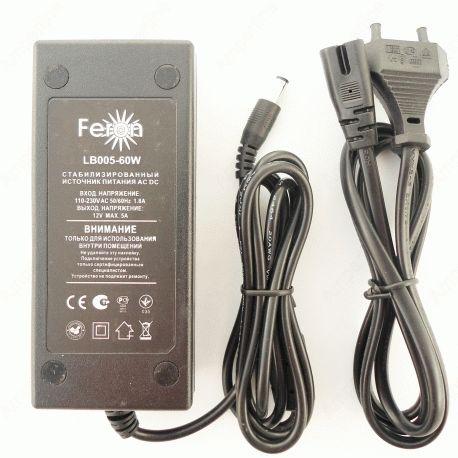 Трансформатор электронный для LED ленты Feron LB005 60W 12V